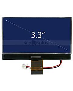 3.3寸LCD240128液晶屏/240x128图形点阵COG液晶模块/蓝底白字/并串口