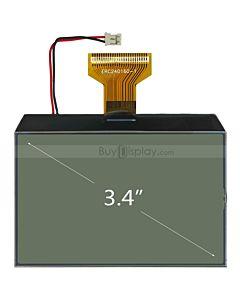 超薄3.4寸LCD240160液晶屏/240x160图形点阵COG液晶模块/白底黑字