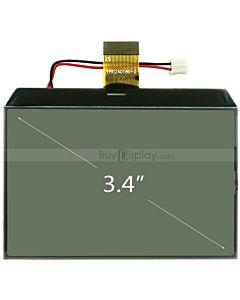 3.4寸超薄LCD240160液晶屏/240x160图形点阵COG液晶模块/白底黑字