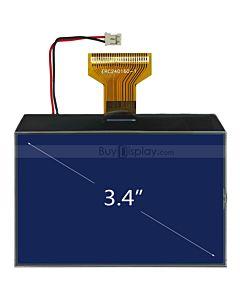 超薄3.4寸LCD240160液晶屏/240x160图形点阵COG液晶模块/蓝底白字