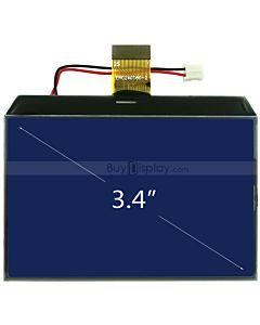 3.4寸超薄LCD240160液晶屏/240x160图形点阵COG液晶模块/蓝底白字