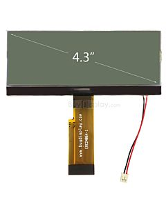 Serial 240x64 COG Monochrome LCD Graphic Module,Black on White