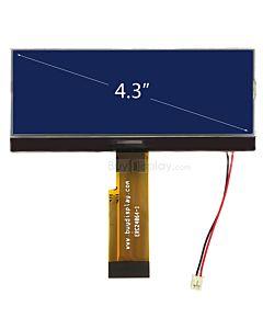 超薄4.3寸LCD24064液晶屏/240x64图形点阵COG模块/蓝底白字/中文字库