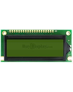 Yellow Green 122x32 Graphic LCD Display Module