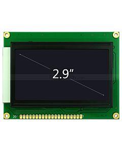 2.9寸LCD12864液晶屏/LCM128x64图形点阵液晶模块/黑底白字
