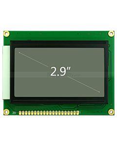 2.9寸LCD12864液晶屏/LCM128x64图形点阵液晶模块/白底黑字