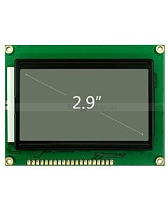3.3V/5V Graphic Display 128x64 Serial LCD Module,ST7920,Black on White