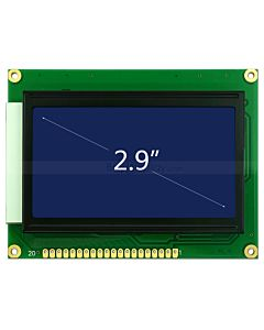 Display lcd 128x64 Graphic Module KS0107 KS0108 White Blue