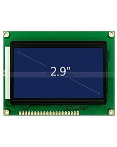 LCD Display Serial Graphic Display 128x64 ST7920,White on Blue