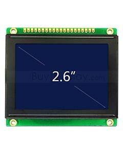 2.6寸LCD12864液晶屏/LCM128x64图形点阵模块/蓝底白字/中文字库