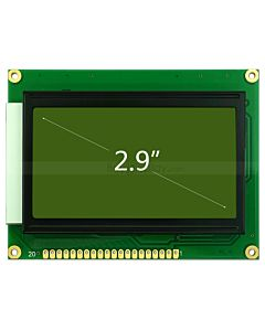 GLCD 128x64 display Graphic LCD Module w/KS0107+KS0108 Black on YG