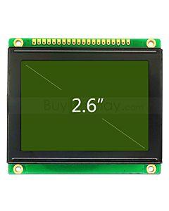 2.6寸LCD12864液晶屏/LCM128x64图形点阵模块/黄绿底蓝黑字/中文字库