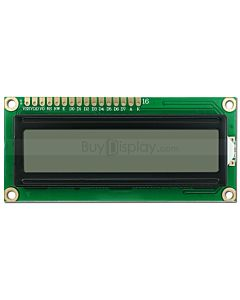 16x2 Russian/Cyrillic Character LCD Display,Black on White,3.3V/5V