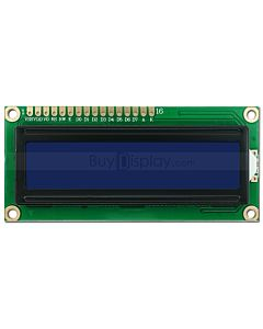 16x2 Russian/Cyrillic Character LCD Module,White on Blue,3.3V/5V