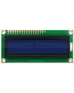 LCD1602/16x2单色字符型LCD液晶显示模块/模组/蓝底白字/内置俄文/Cyrillic字符