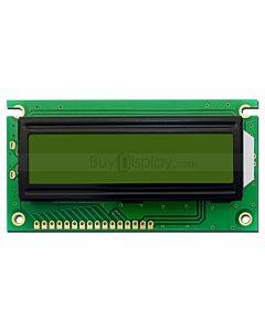 LCD1602/16x2单色字符型LCD液晶显示模块/模组/黄绿底蓝黑字