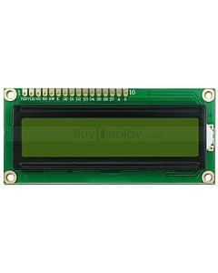 LCD1602/16x2单色字符型LCD液晶显示模块/模组/黄绿底蓝黑字/内置Cyrillic/俄文字符