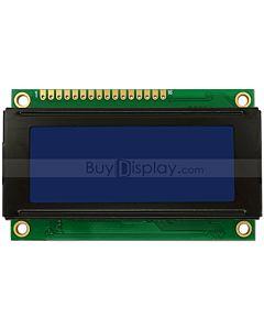 2004单色字符型LCD液晶显示模块/20x4模组/蓝底白字/小尺寸