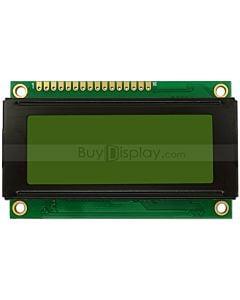 2004单色字符型LCD液晶显示模块/20x4模组/黄绿底蓝黑字/小尺寸