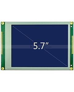 5.7寸LCD320240工控液晶屏/LCM320x240图形点阵液晶模块/蓝底白字