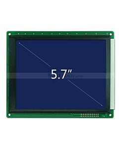 5.7 inch 320x240 LCD Controller SED1335 or Equivalent White on Blue