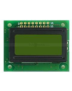 LCD802/8x2单色字符型LCD液晶显示模块/模组/黄绿底蓝黑字