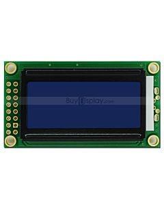 LCD802/8x2单色字符型LCD液晶显示模块/模组/蓝底白字