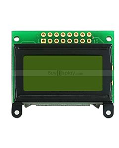 Reflective Character  LCD Display Module 8x2,No LED Backlight