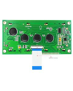 Low-Cost 19264 192x64 Graphic LCD Display Module White Black Color