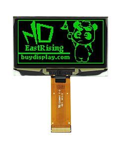 2.4寸绿色OLED显示屏/128x64点阵/并串口/可配触摸屏和连接器
