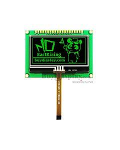 绿色2.4寸OLED显示模块/128x64点阵配转接板/可配电阻式触摸屏