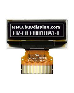 白色1寸OLED显示屏/显示模块/12832/128x32点阵/并串口/连接器类型FPC