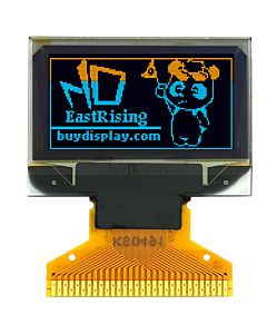 黄色+蓝色0.96寸OLED显示屏/显示模块/12864/128x64点阵/并串口
