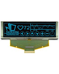蓝色3.2寸OLED显示屏/显示模块/25664/256x64点阵/并串口