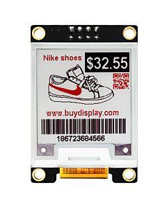 1.54英寸黑红电子墨水屏配转接板/200x200分辨率/配套Arduino/树莓派用/SSD1681控制芯片