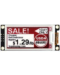 2.13英寸电子墨水屏白底红字212x104分辨率可配套ARDUINO和树莓派
