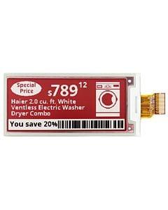 超薄2.9寸双色电子纸/E-Paper/E-Ink/128x296点阵/SSD1675A