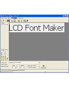 Free Software LCD Font Maker
