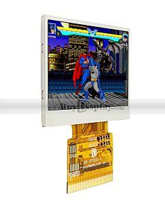 2寸TFT LCD彩色液晶显示模块/320x240点阵彩屏模组/并串口