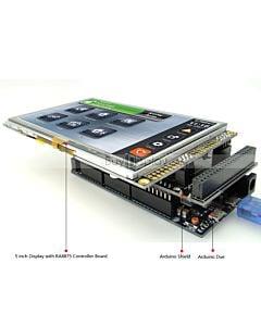 5寸TFT LCD彩色液晶显示模块/带RA8875控制板/Arduino开发板/Mega/Due/Uno