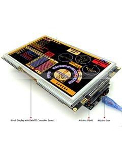 8寸TFT LCD彩色液晶显示模块/带RA8875控制板/Arduino开发板/Mega/Due/Uno
