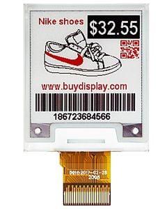1.54英寸黑红电子墨水屏/200x200分辨率/SPI/带控制芯片SSD1681