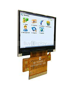 2.3寸TFT LCD彩色液晶显示模块/320x240点阵彩屏模组/并串口