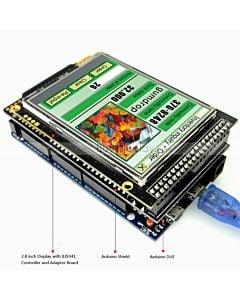 2.8寸TFT LCD彩色液晶显示模块/带转接板/Arduino开发板/ Mega/Due/Uno