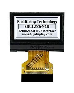 超薄0.96寸LCD12864液晶屏/128x64图形点阵COG/白底黑字/智能手表显示屏