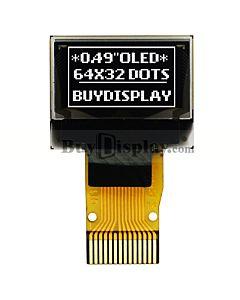 白色0.49寸OLED显示屏/显示模块/64x32点阵/I2C/SSD1306