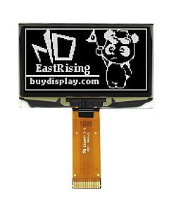 2.4寸白色OLED显示屏/128x64点阵/并串口/可配触摸屏和连接器
