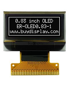 白色0.83寸OLED显示屏/显示模块/96x39点阵/串口