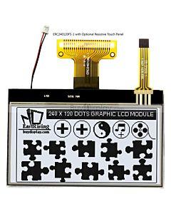 超薄3寸LCD240120液晶屏/240x120图形点阵COG液晶模块/白底黑字
