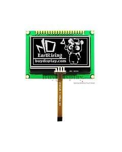 白色2.4寸OLED显示模块/128x64点阵配转接板/可配电阻式触摸屏